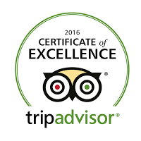 Logo for Tripadvisor 2016 Certificate Of Excellence Awards